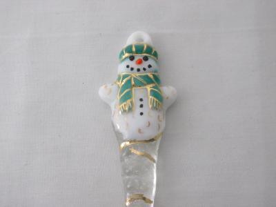 TO22028 - Tassel Scarf Snowman Ornament- Teal Green