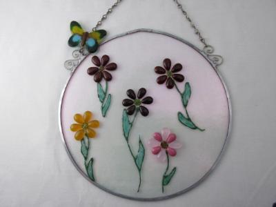 GA14004 - Garden / Wall Art - Flowers & Butterfly