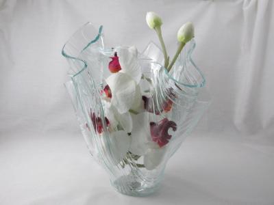 VA1155 - Barnwood Textured Centerpiece Vase