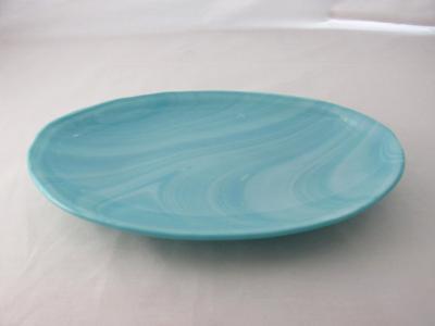 OV18015 - Aquamarine Frost Oval Serving Dish