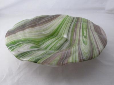 SW19003 - Ivory & Adventuriine Swirl Bowl