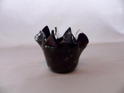 QT16001 Deep Royal Purple Cathedral, Iridized Q-Tip Holder