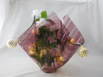 VA1173 - Amethyst Baroque Centerpiece Vase