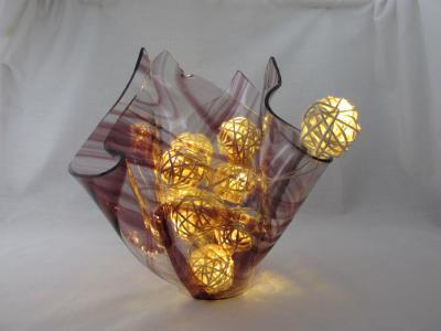VA1174 - Amethyst Baroque Centerpiece Vase