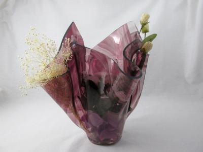 VA1148 - Amethyst Baroque Centerpiece Vase