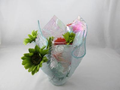 VA1166 - Krinkle, Iridized Centerpiece Vase