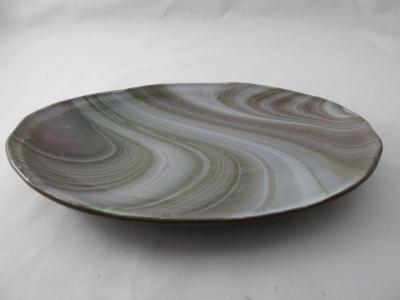 OV18025 - Chocolate & Cream, Iridized Oval Serving Dish