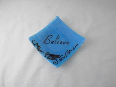 """SP7028 - """"Believe"""" Dessert Plate"""