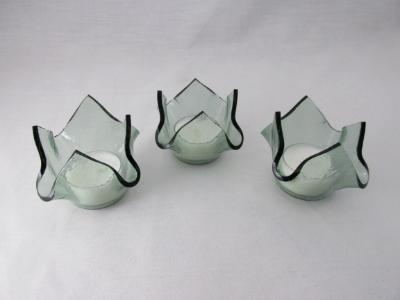 "QT16051 - ""Sea Glass"" Tea Light Holders"