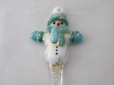 TO22030 - Large Snowman Ornament- Teal Green/Turquoise Blue