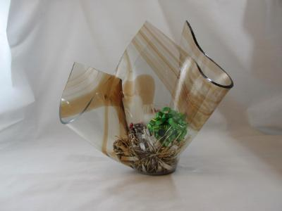 VA1115 - Cinnamon Baroque Christmas Centerpiece Vase