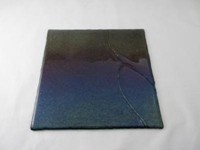 "CB6022 - 9"" Deep Royal Purple Cutting Board ""Ocean Sunset"""