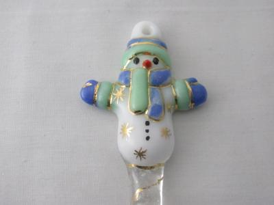 TO22031 - Large Snowman Ornament- Cobalt Blue, Mint Green