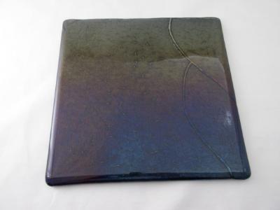 "CB6016 - 9"" Deep Royal Purple Cutting Board ""Ocean Sunset"""