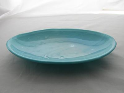 OV18017 - Aquamarine Frost Oval Serving Dish