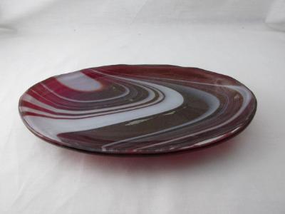 OV18007 - Strawberries & Cream Iridized Oval Serving Dish