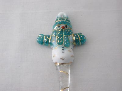 TO22026 - Large Snowman Ornament- Lt Aquamarine Blue